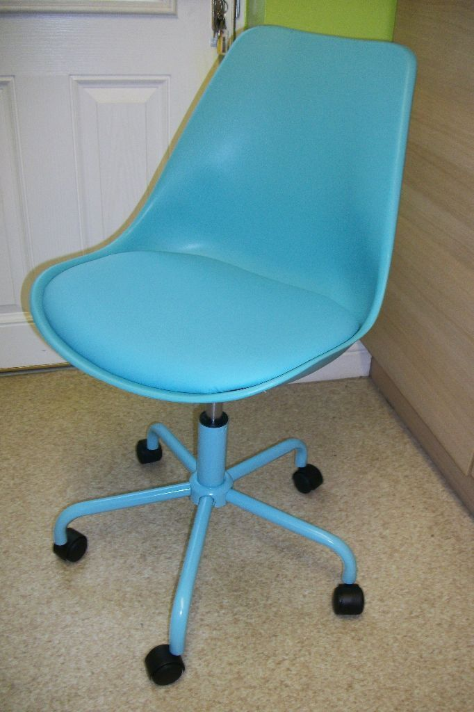New Brady Mid Back Office Bedroom Desk Chair Blue