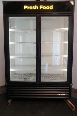 True Gdm-49 2 Glass Door Cooler Merchandiser For Soda Beer Produce Or Deli Meat