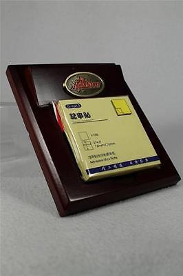 "Iowa State University ISU - Wood Desk Memo Pad Holder - Holds 3"" x 3"" Pad  NIB"