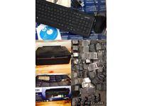 Epson Stylus scanner printer + wireless keyboard + usb web cam + mixed cartridges