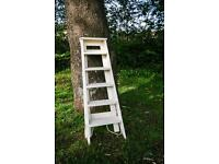 White vintage Ladder