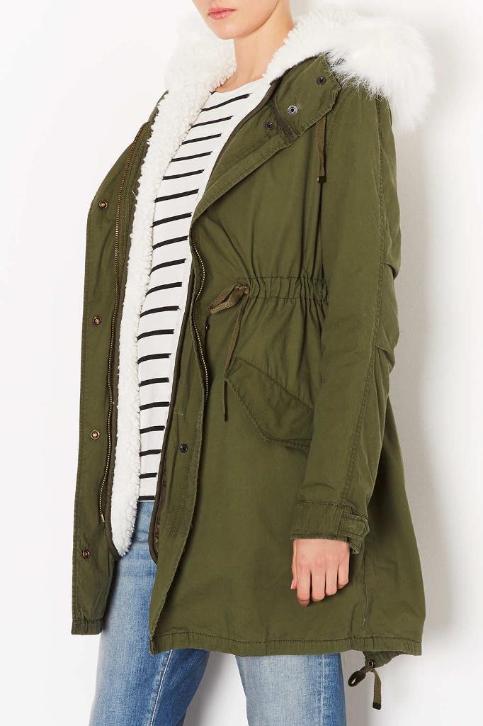 Parka jacket topshop