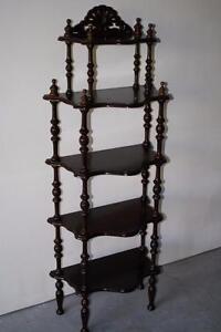 Vintage Chocolate Walnut Curio Display
