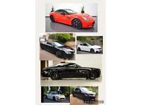 Ferrari Rolls Royce Wraith Maserati Audi R8 Range Rover BMW M4 Luxury car hire/wedding/chauffer 21+