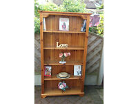 VINTAGE COUNTRY STYLE SOLID PINE BOOKCASE / DISPLAY SHELF UNIT