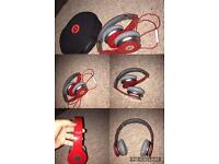 Red beats headphones