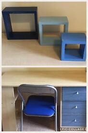 Desk & Cube Shelves