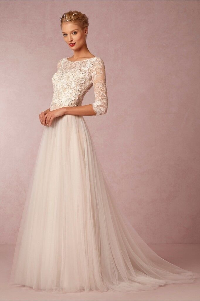 Wedding dress, size 10-12, ivory / champagne color, brand new, never ...
