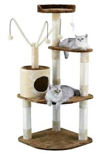 New Go Pet Club F214 60-Inch Cat Climber Furniture Condo, Brown and Beige (MSRP $110), PICKUP ONLY - DI6