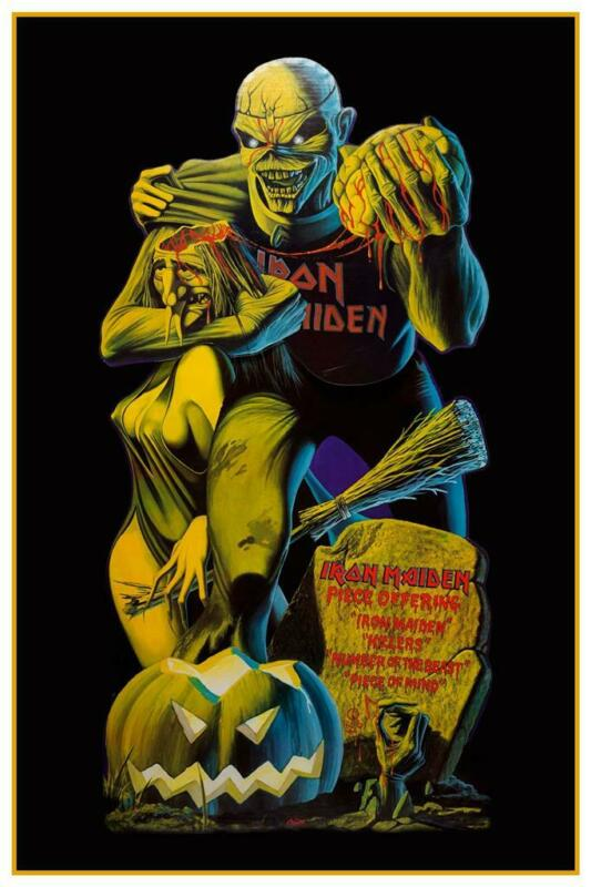 Iron Maiden - POSTER - Piece of Mind EDDIE album promo ad Number of the Beast
