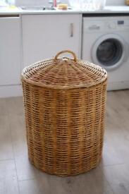 Large whicker laundry or toy basket