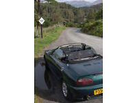1997 1.8 MG - MGF Convertible soft top mid engine sports car
