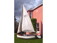 Tepco 10 Sailing Dinghy / Large Tender. Excellent first sailing boat, good to row or with outboard