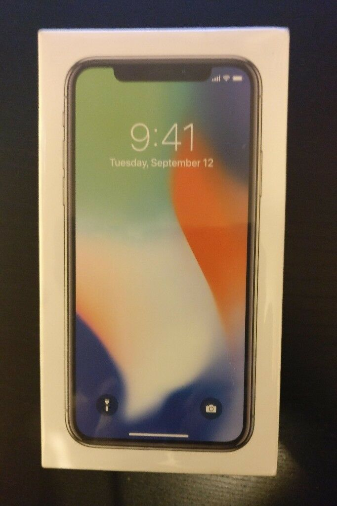 iPhone X - 256GB - Silver - Brand New Sealed - UK Phone