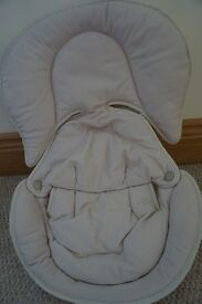 CREAM LINER FOR CAR SEAT, FOR TINY BABY