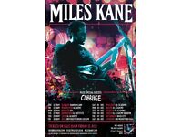 4x Miles Kane standing tickets, Manchester Academy, Friday 23rd November 2018