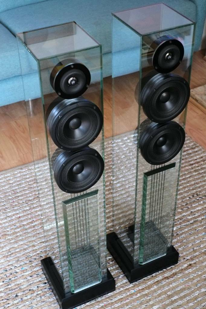 Waterfall Audio Victoria Glass Speakers Rrp 3135 In Beeston