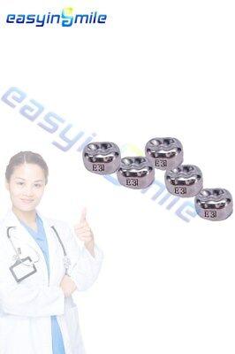 1box Easyinsmile Dental Kids Upper Premolar Left Crown Stainless Steel Temporary