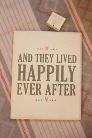 'And they lived happily ever after' Wooden Sign - Wedding Prop/Centrepiece