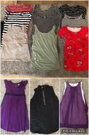 Bundle of Maternity clothes. Sizes 12 and Medium.