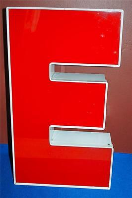 Letter E Red White Indoor Outdoor Large Acrylic Advertising Sign