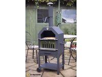 La Hacienda charcoal/woodburner BBQ, smoker, pizza oven (Inc. Pizza Stone)with wheels Patio Garden