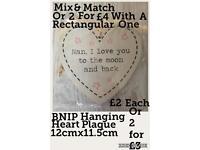 BNIP Nan I Love You To The Moon & Back Heart Plaque