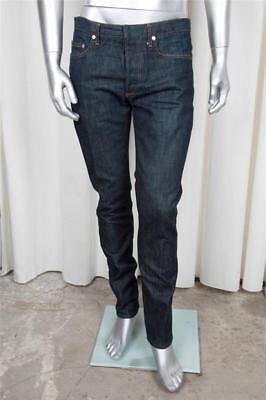 Dior Herren Jeans (Christian Dior Herren Klassisch Freizeit Dunkelblau Baumwolle Denim Gerades Bein)