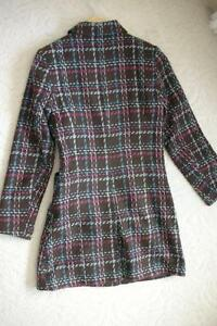 Women's Brown Pink Blue White Plaid Dress Coat Jacket!! Windsor Region Ontario image 3