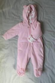 Baby Girl Coat/Snowsuit, 3-6 months