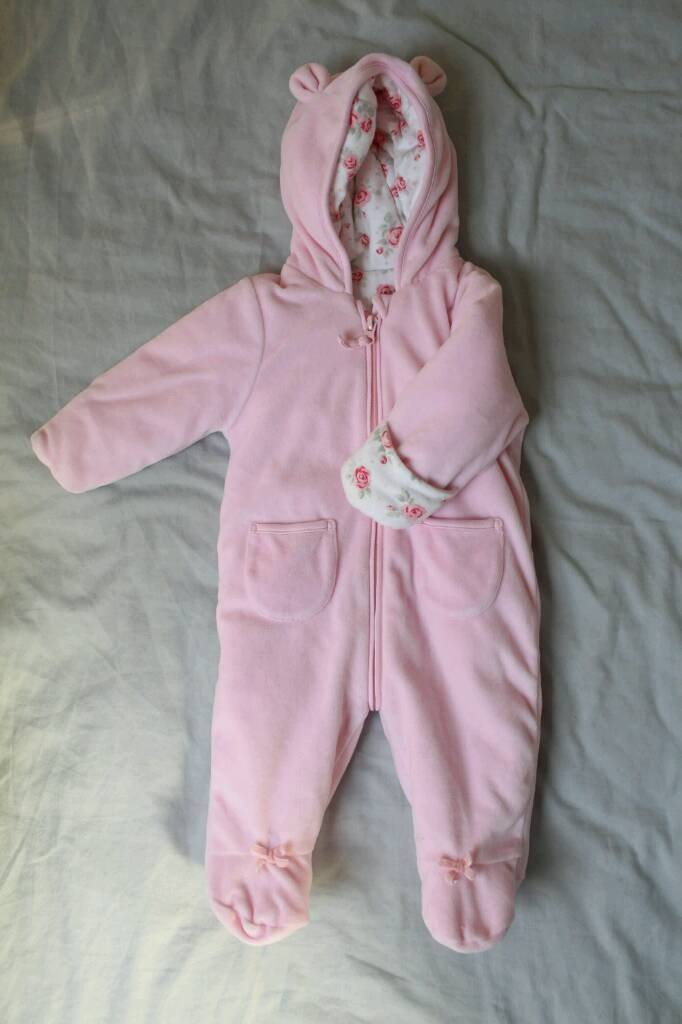 Baby Girl Coat/Snowsuit, 3-6 months