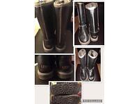Dark Metallic Grey Ugg Boots Great Condition Size 4