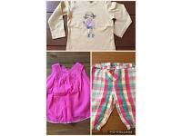 Clothes girl 24 months (tops and trousers)