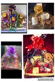 Handmade personalised hamper basket. Christmas gift 💝