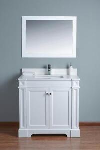 "36"" Vanity/ Quartz Top / Dovetail Drawer"