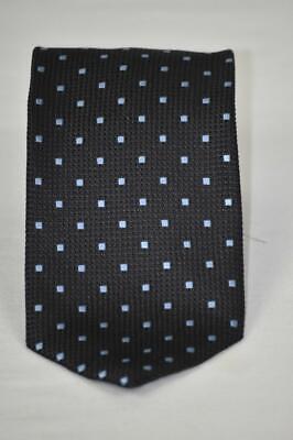 Minty $275 Ermenegildo Zegna Couture XXX Grenadine Style Navy Silk Tie 3.25 x 58