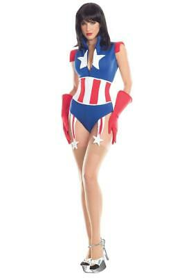 sexy BE WICKED super SOLDIER captain AMERICA superhero AVENGERS romper COSTUME