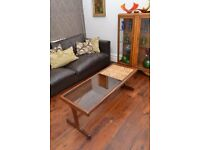 Beautiful retro G-Plan coffee table - teak, tile and smoked glass. A bargain at £75 ono!