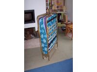 Spare fold up single bed – useful and sturdy fold away single bed on a light weight metal frame £20