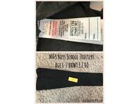 Dark Grey Boys School Trousers 6-7