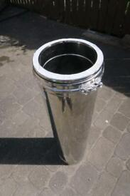 """Schiedel 8"""" 200mm ID 1000mm stainless twinwall insulated chimney flue pipe"""