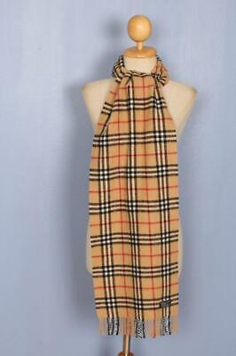 BURBERRY Scarf Nova Check Lambswool Authentic