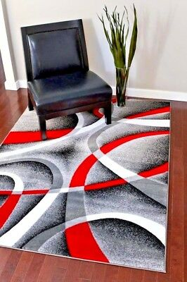 RUGS AREA RUGS 8X10 RUG CARPETS LARGE GRAY BIG BEDROOM FLOOR GREY RED COOL RUGS