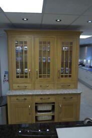 Lisa Oak and Ivory In-Frame Solid Wood Kitchen Larder Unit