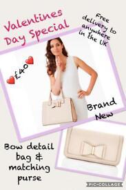 Bow Bag & Matching Purse