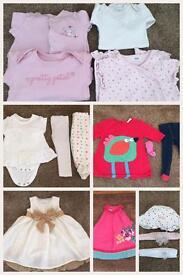 Girls 3-6 months massive clothing bundle.