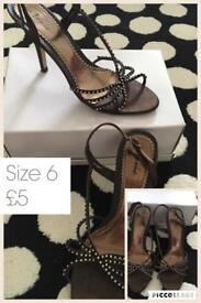 Bronze strappy heels size 6