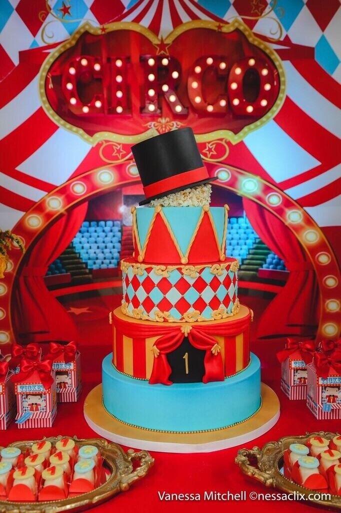 Tremendous Circus Themed Birthday Cake In Hemel Hempstead Hertfordshire Funny Birthday Cards Online Elaedamsfinfo