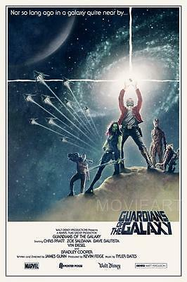 Guardians Of The Galaxy Star Wars (GUARDIANS OF THE GALAXY STAR WARS MOVIE POSTER FILM A4 A3 ART PRINT CINEMA)