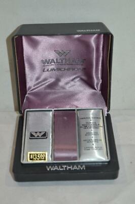 Vintage Waltham Lumichron Watch Box Case  *FREE SHIP USA